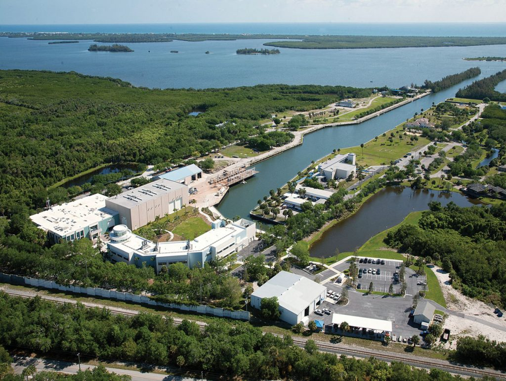 The 144-acre campus of Harbor Branch Oceanographic Institute in Fort Pierce