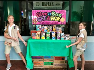 Girl Scouts and Duffy's