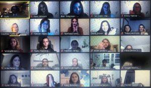 Leukemia Lymphoma Society Students of the Year Zoom call