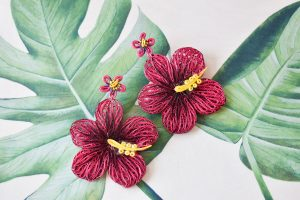 Aloha Quilled Earrings in Pitaya at Josephine Alexander Collective