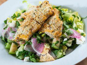 Garlic-Herb-Crusted-Local-Mahi-Mahi-over-Middle-Eastern-Fattoush-Salad-by-chef-Tim-Nickey-Photo-by-Benjamin-Rusnak