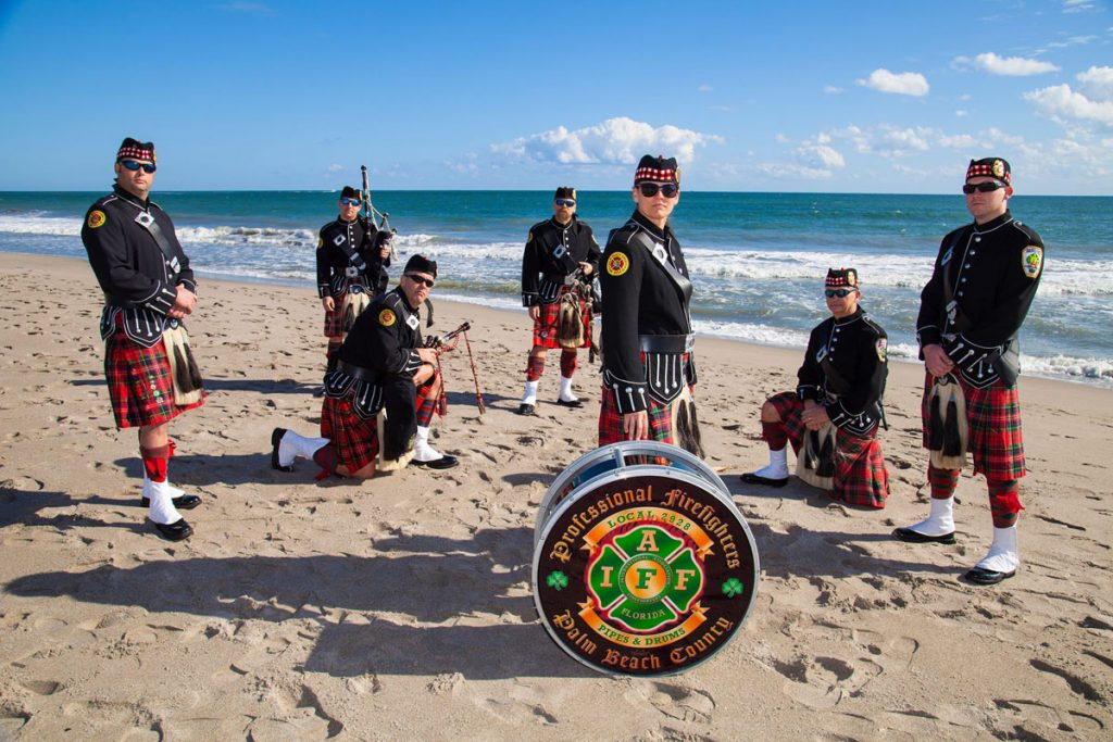 PBC Firefighters Pipes and Drums
