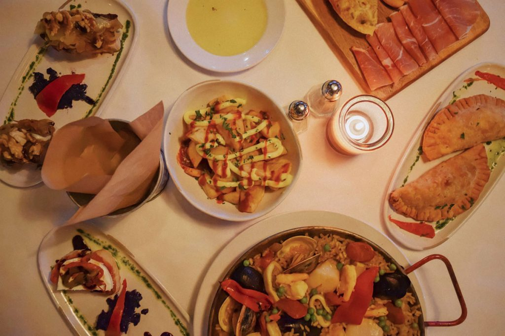 Codfish empanadas, fried calamari, octopus, and Iberian ham and aged Manchego cheese.<br/> Photos by Sophia Paytner