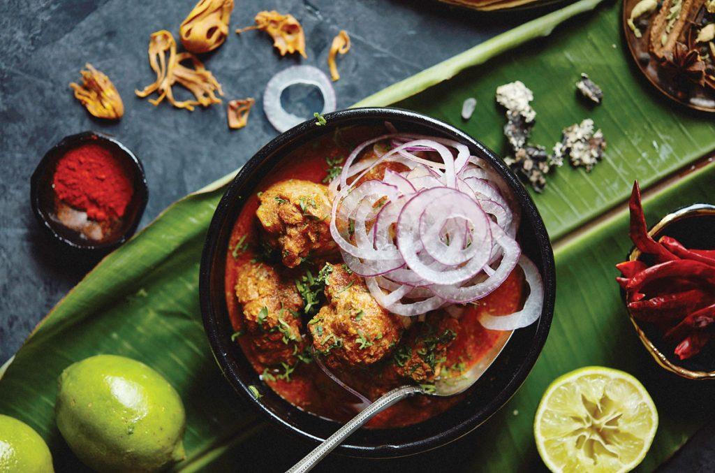 Chef Pushkar Marathe's Kolhapuri Chicken <br/> Photo by Libby Volgyes