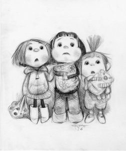 Despicable Me sketch by Carter Goodrich on view at Lighthouse ArtCenter beginning June 7