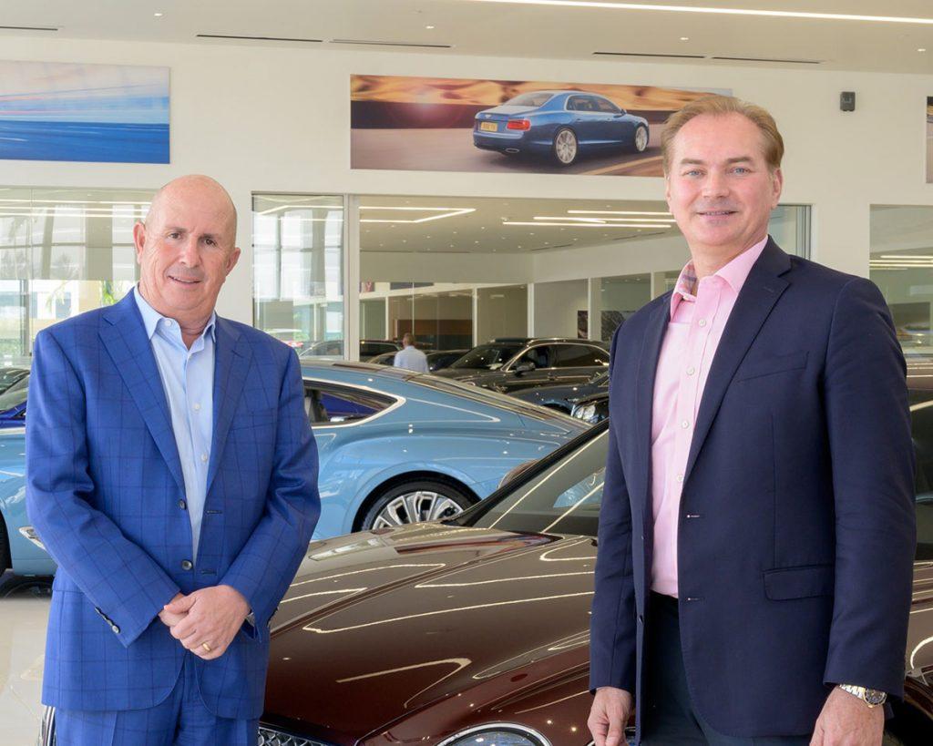 Stephen Grossman, general manager of Braman Motorcars, and Jason Kycek, Casa de Campo's senior vice president of sales and marketing