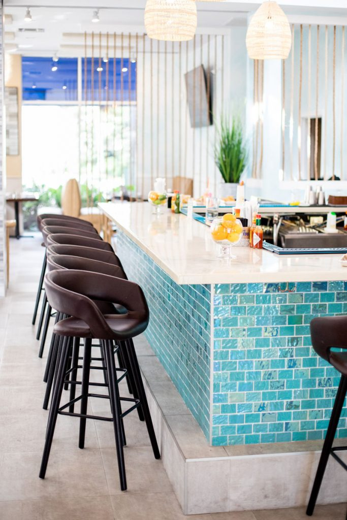 The bar at Duke's Tacos & MargsPhoto by Tina Blanco