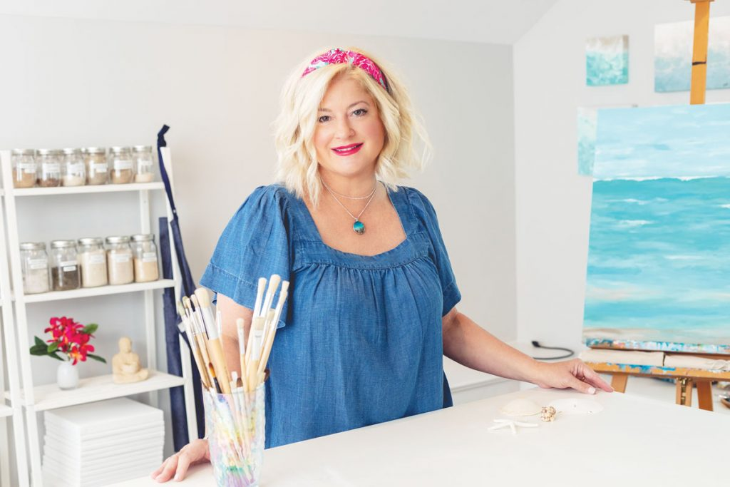 Artist Robyn Ladwig in her studio. Photography by Stay Gold Photo