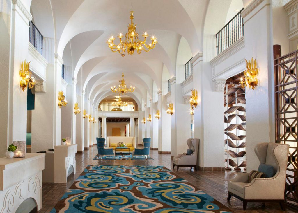 The iconic lobby at The Vinoy. Courtesy of The Vinoy