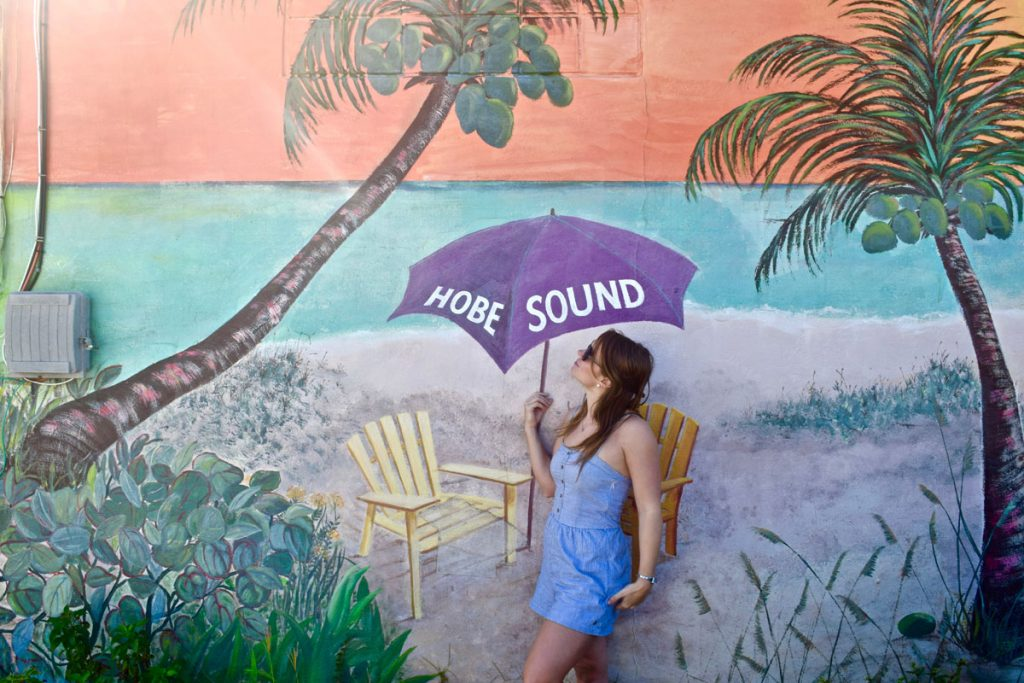 Bring pets for a walking tour of the Hobe Sound murals. Photo courtesy of Martin County Office of Tourism & Marketing