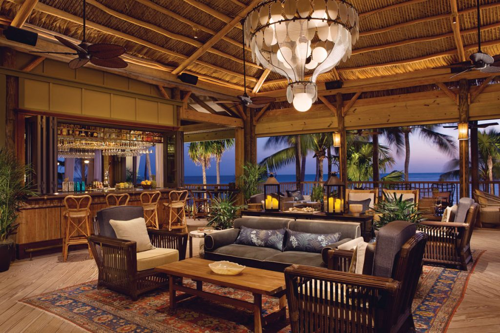 Enjoy a cocktail and the view at The Monkey Hut. Images courtesy of little palm island resort and spa