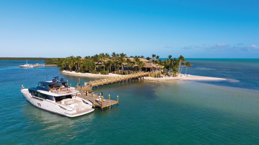 The super-private Little Palm Island Resort and Spa is nestled on its own island. Images courtesy of little palm island resort and spa