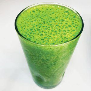 Kale and cucumber juice
