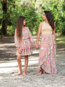 Jemma and Jessica in ensembles from Sea Lustre shot in Riverbend Park in Jupiter