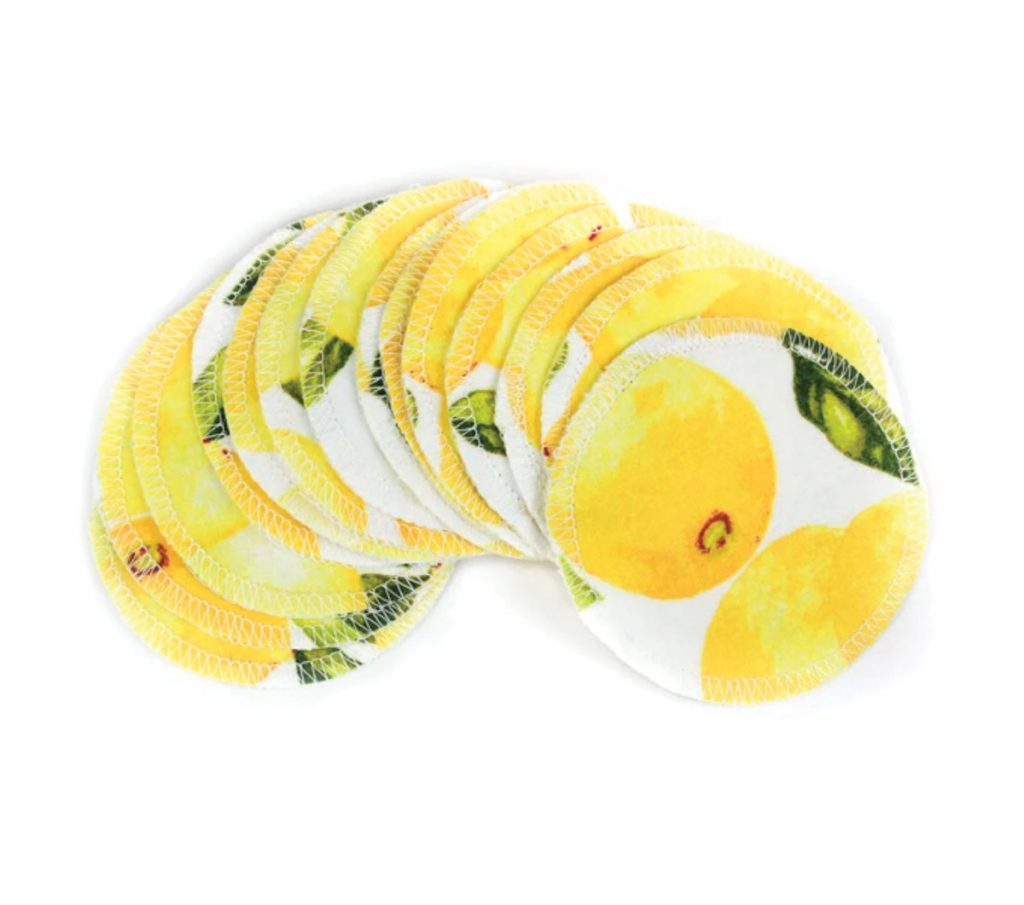 Lemon Print Face Rounds, One World Zero Waste