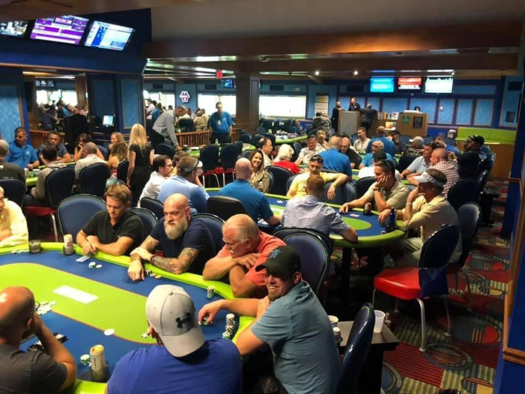 Players at Live Like Jake's first annual Poker 4 Prevention in 2019.