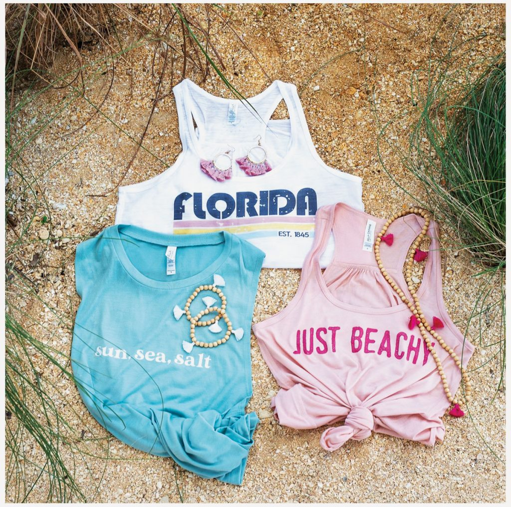 A few items from Tassels and Tanks' Florida Subscription Box. Photo by Pretty Amazing Photography
