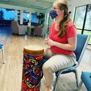 Music therapist Meghan Hanley